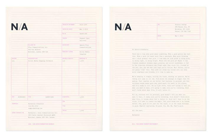 N/A identity designed by Triboro Design.
