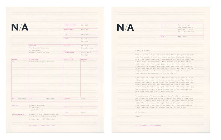 N/A identity designed by Triboro Design.