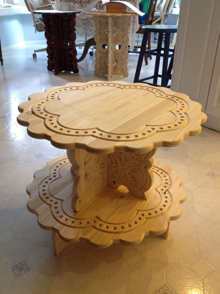 An End Table Made With The Cnc Burningimpressions Cnc