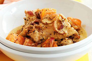 Chicken and sweet potato casserole