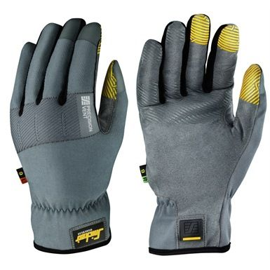 If you need comfortable work gloves with outstanding fingertip feel, the Snickers 9572 Precision Vent Gloves should be on your shopping list. They are loosely fitted around the hand, yet tight around the fingers. Ideal for light precision work and providing EN388 mechanical risk protection. They offer a slip on design with elastic reinforced padding over the knuckles, side/dorsal ventilation and silicon palm grips.