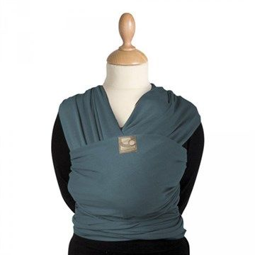 Echarpe de portage Tricot Slen bleue