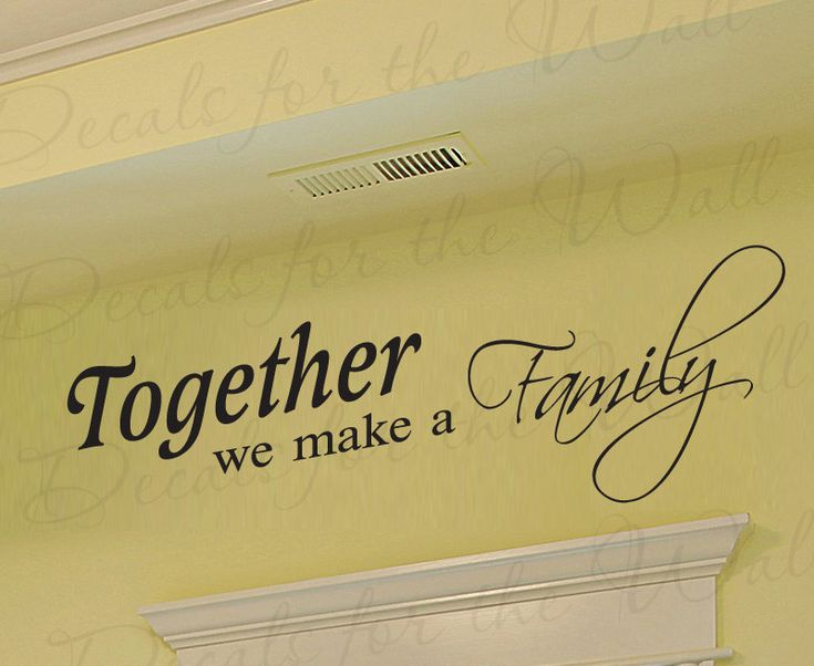 Together We Make Family Love Home Decorative Adhesive Vinyl Wall Decal Quote Sticker Lettering Mural Letters Decor Saying Decoration F73. $22.97, via Etsy.