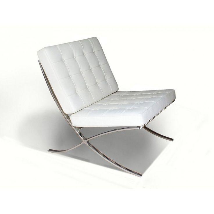 1000+ ide tentang fauteuil cuir blanc di pinterest | peinture pour ... - Chaise Barcelona Pas Cher