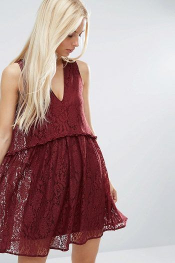 ASOS Lace Smock Dress Oxblood 1 220x330 Smock dresses: perfect for the summer