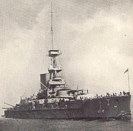 HMS Erin (intended to be Reshadieh for the Ottomans), seized by order of Winston Churchill, 1st Lord of Admiralty.