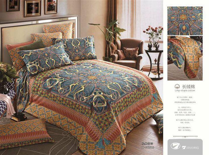 Wholesale of 100% Model bedding set cool duvet cover queen flat sheet pillowcase /bed linen/quilt cover suite(HKY301)