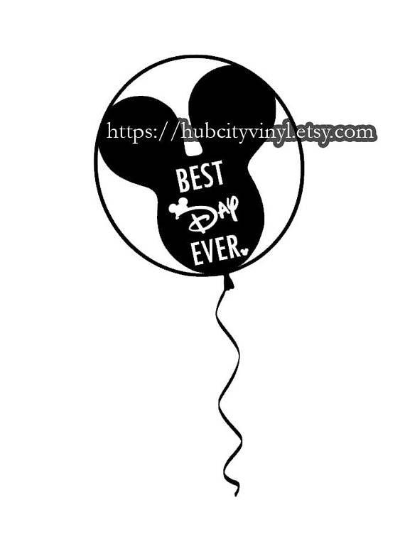 Disney Mickey Balloon Best Day Ever Vinyl Diy Iron On