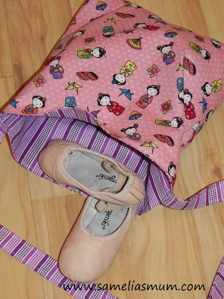 Pink Ballerina Bag via And Sew We Craft