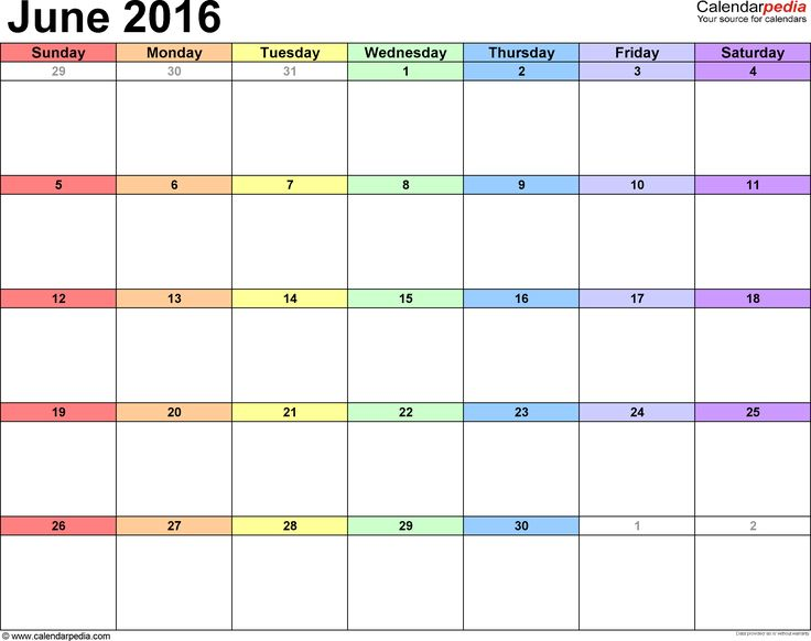 The 25+ best Blank july 2016 calendar ideas on Pinterest Blank - microsoft word weekly calendar