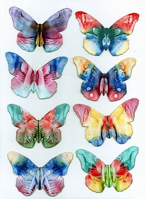 some of my encaustic art butterflies