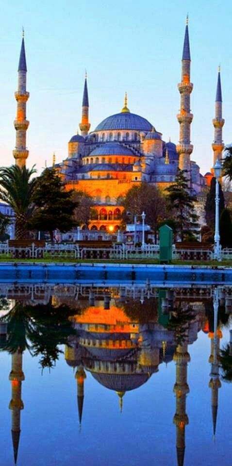 Awesome view of Blue mosque istanbul turkey