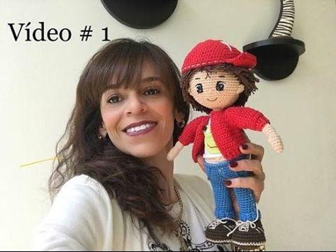 DIY Muñeco amigurumi con gorra - Patrones gratis