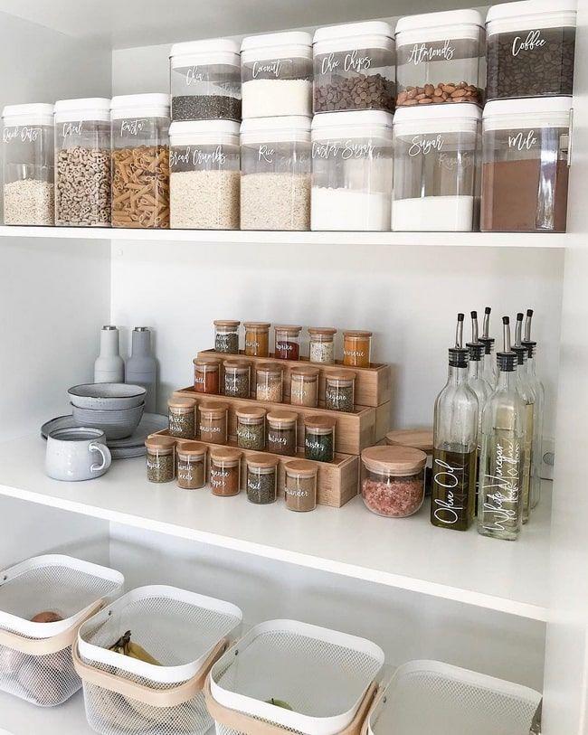 Como Organizar Los Armarios De Cocina Orden En La Cocina Ideas De Organizacion De Cocina Organizacion De La Despensa Organizacion De Cocina