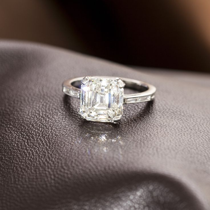 4.65ct Asscher Cut Diamond Ring