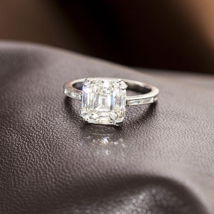 4.65ct Asscher Cut Diamond Ring