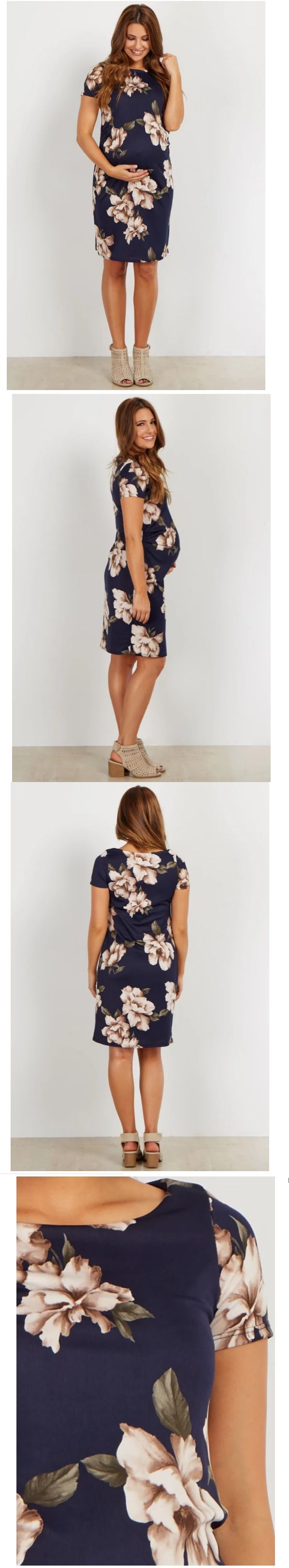 920 best dresses 11534 images on pinterest curve maternity dresses 11534 pinkblush navy floral fitted maternity dress navy blue size m style hd182651 ombrellifo Image collections