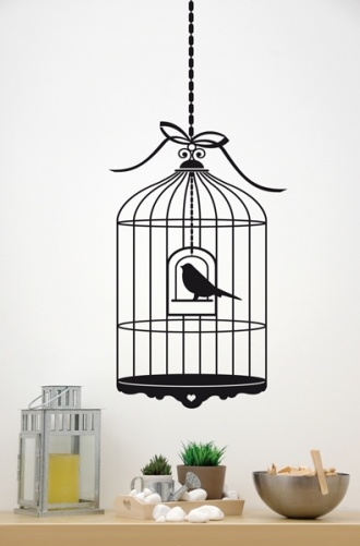 Birdcage sticker #bird