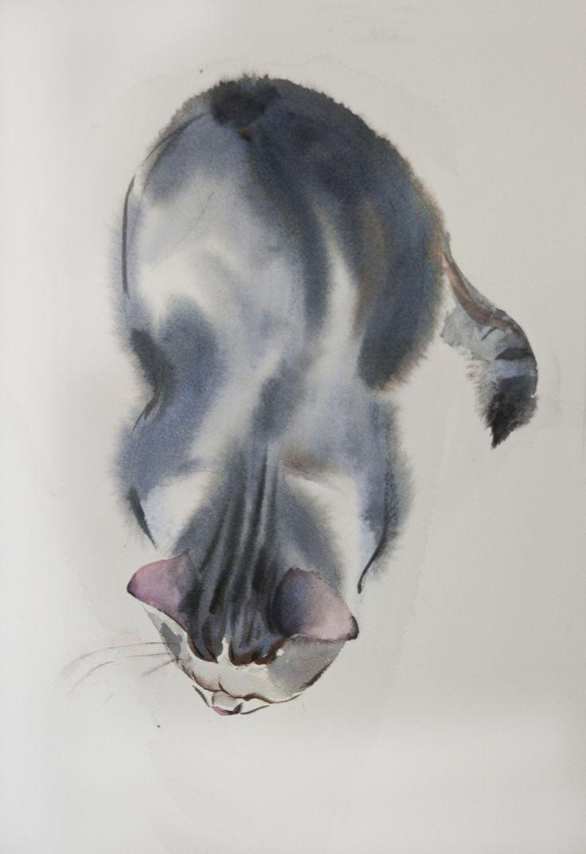 march#cats sketch 28*38 sm watercolor on paper  @Olga Flerova  http://www.saatchiart.com/account/profile/425625