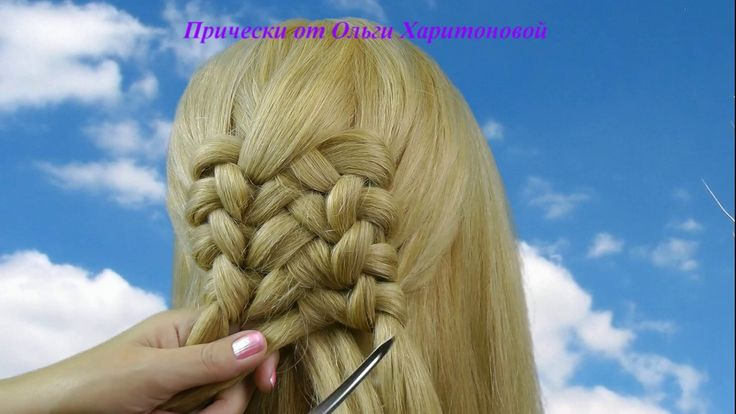 Прически с плетением для длинных волос.Hairstyles with long hair braided.