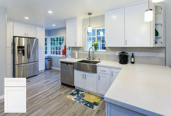 White Maple Shaker (10' x 10' Kitchen)
