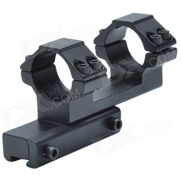 25mm Caliber F Aluminum Alloy Dual Bracket Gun Mount - Black Price: $12.14