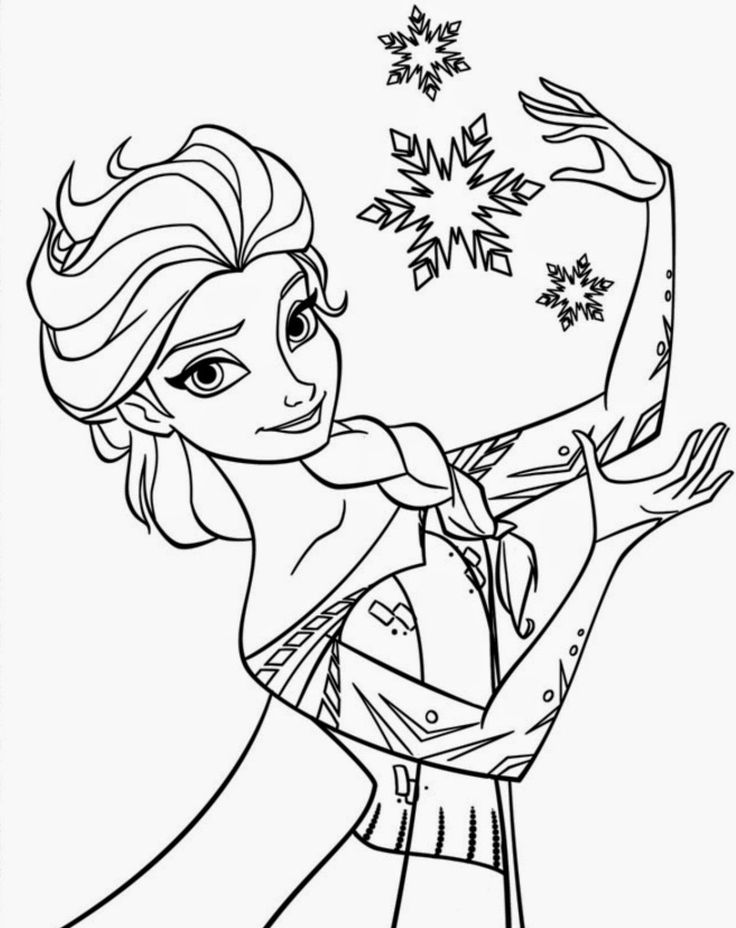 You Can Get Here Also Olaf In Summer And Sven Annas Face Young Elsa Let It Go Easy Disney Frozen Coloring Pages Printable