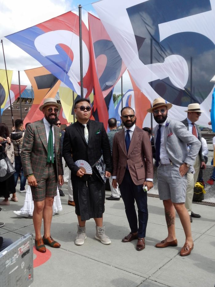 Short suits, summer hats & checks @PitiUomo #mensfashion #style
