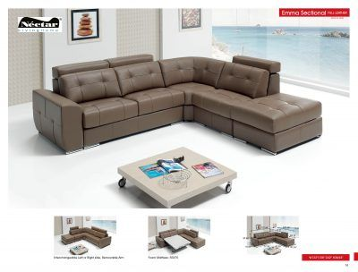 Living Room Furniture Sectionals Emma Sectional w/Sleeper for sale at http://www.kamkorfurniture.ca