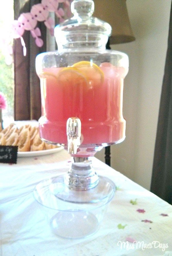 Baby Shower on a Budget pink lemonade vintage glass