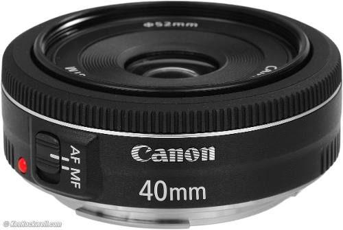 Lente Canon Ef 40mm F/2.8 Stm F2.8 Pancake Lens Menor Lente - R$ 554,90