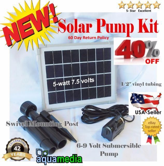 Solar Panel Water Pump Kit Fountain Pool Garden Pond Submersible Industrial Solarpanels Solarenergy Sol In 2020 With Images Solar Panel System Photovoltaic Panels Solar Panels