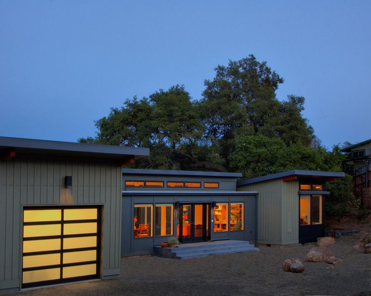 Just completed stillwater dwellings prefab home in santa for Prefab garage california