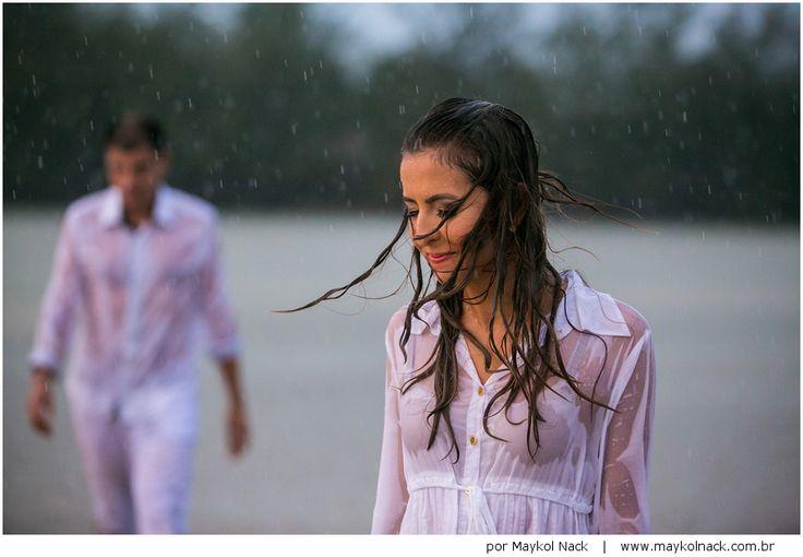 Ensaio de casal na chuva - Santa Catarina