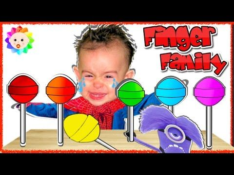 Bad Spider Baby Crying and learn colors-Colorful Lollipops- Minions Desp...