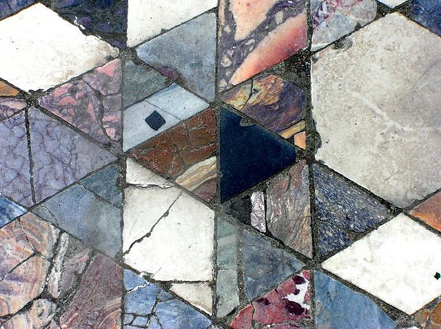2000 year old Mosaic floor, Herculaneum, Italy