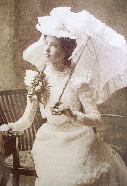 Lady with parasol, ca. 1900