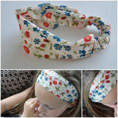 Haarband naaien (leuk met restjes stof!)