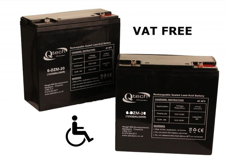 This Listing is for a PAIR of 20ah 12v Re-chargable Deep-Cycle AGM Gel Batteries for use in Mobility Scooters, Wheelchairs and similar