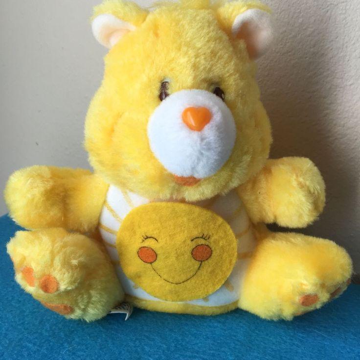 Yellow Care Bear Funshine Bear Plush Coin Bank Vintage 1984 #CareBears #AllOccasion