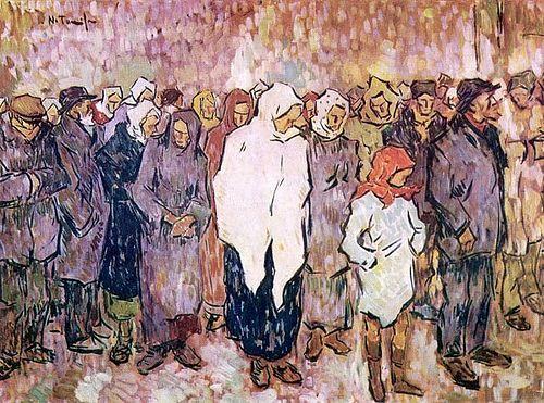 The Bread Line by Nicolae Tonitza, 1920.