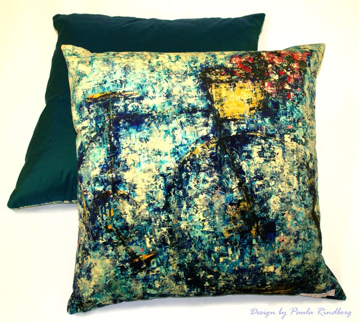"Cushions by Paula Rindborg. - Collection ""Bicycle II"""