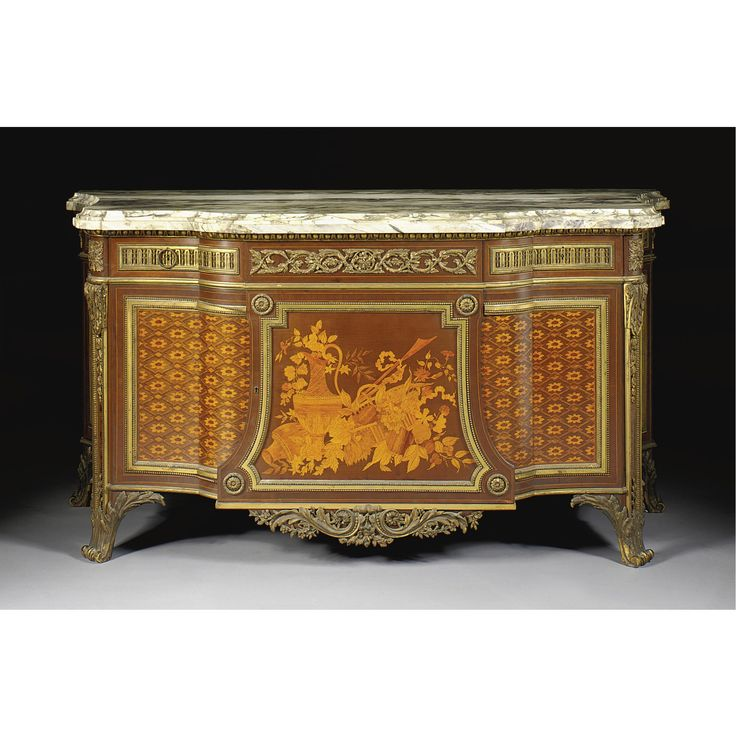 c1875-80 A Fine Louis XVI style commode à ressaut, after the model by Jean-Henri Riesener Paris, circa 1875-80 Estimate   15,000 — 20,000  USD  LOT SOLD. 25,000 USD (Hammer Price with Buyer's Premium)