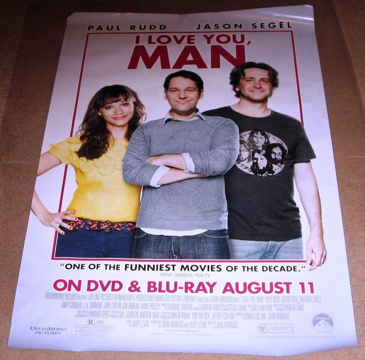I Love You, Man Movie Poster 27x40 Used Carla Gallo, Carol Shook, David Wain, Ian Roberts, JK Simmons, Jobeth Wagner, Ping Wu, Thomas Lennon, Jon Favreau, David Krumholtz, Jason Segel, Josh Cooke