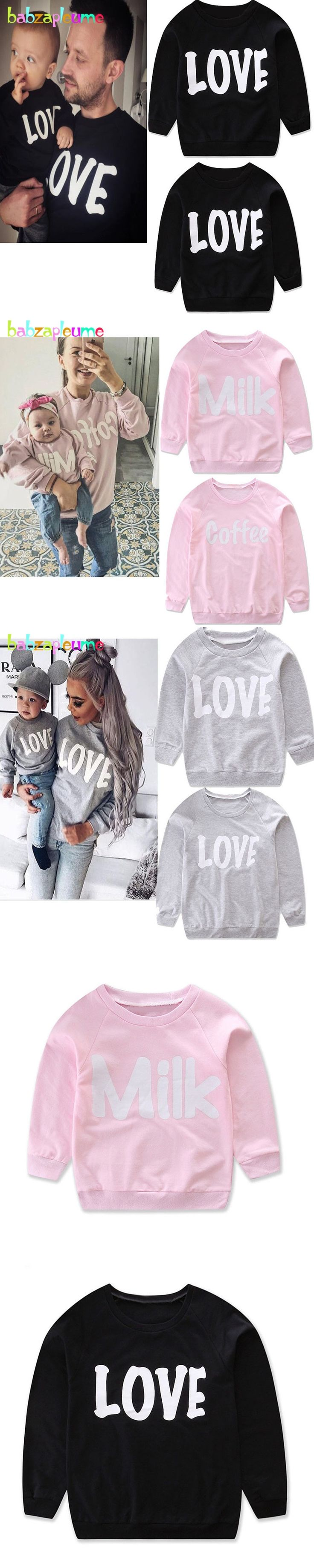 Spring Autumn Family Costume Matching Mother Daughter Clothes Fashion Baby Girls Clothing Pink T-shirt Father Son Outfits BC1133