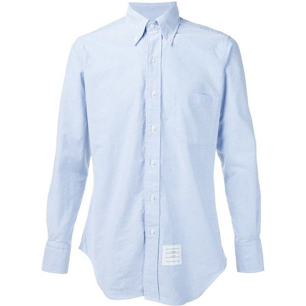 Thom Browne Classic L/s Bd Pc Shirt With Cf Grosgrain Placket In... (23.970 RUB) via Polyvore featuring men's fashion, men's clothing, men's shirts, men's casual shirts, blue, mens blue oxford shirt, mens long sleeve oxford shirts, mens blue shirt и mens casual long sleeve shirts