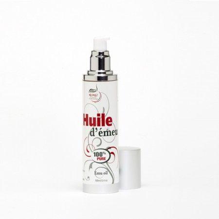 huile d'émeu de marque «Dundee Emu», produite au Québec; format 100ml, sans bouchon