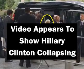 Video Appears To Show Hillary Clinton Collapsing