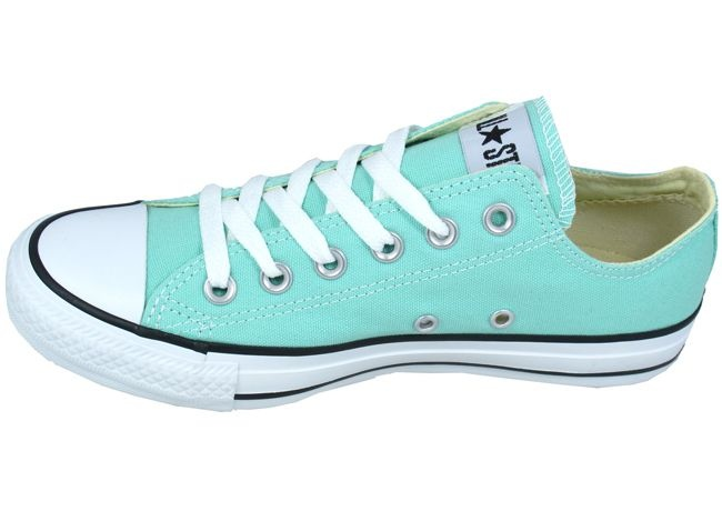 womens green converse low tops
