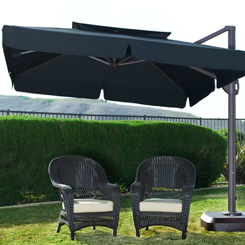shop umbrellas furniture heaters and more find this pin and more on patio by mamagils milano 10 foot square offset patio umbrella